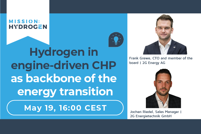 Hydrogen in engine-driven CHP as backbone of the energy transition